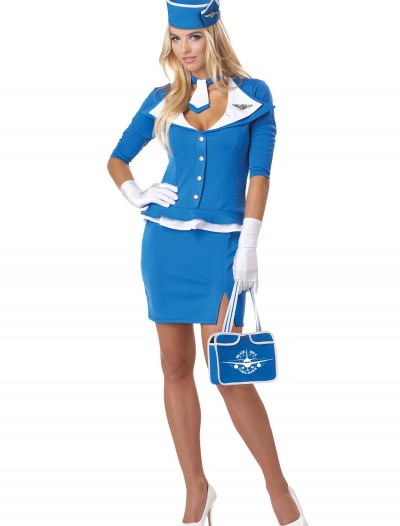 Womens Sexy Retro Stewardess Costume buy now