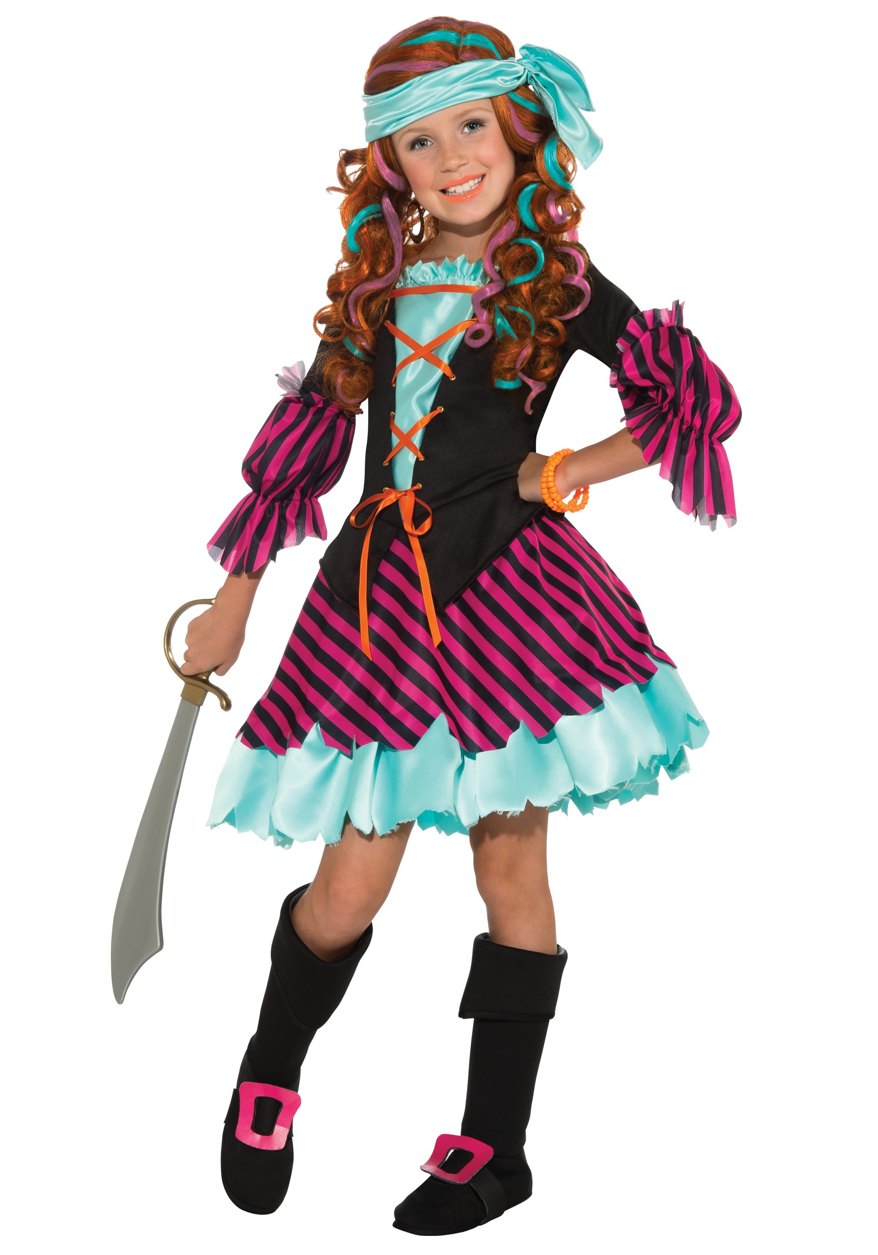 Salty Taffy Girls Pirate Costume  sc 1 st  Halloween Costumes & Salty Taffy Girls Pirate Costume - Halloween Costumes