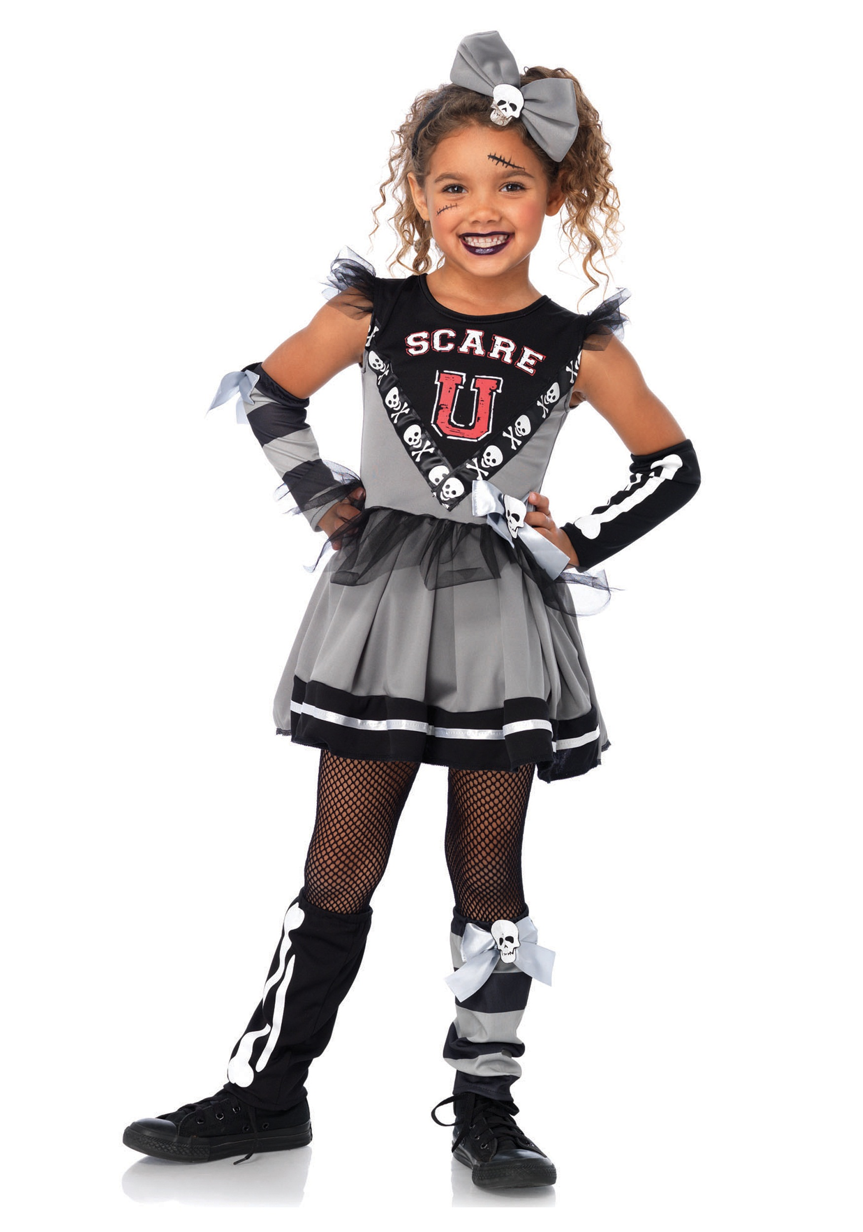 Scare u201cUu201d Cheerleader Child Costume  sc 1 st  Halloween Costumes & Scare