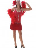 Sequin and Fringe Red Plus Size Flapper buy now