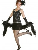 Sequin & Fringe Black Flapper Dress buy now