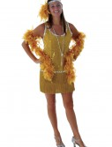 Sequin & Fringe Gold Flapper Costume buy now