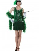 Sequin & Fringe Green Flapper Costume buy now