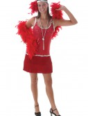 Sequin & Fringe Red Flapper Costume buy now