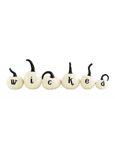 Set of 6 White Wicked Pumpkins buy now