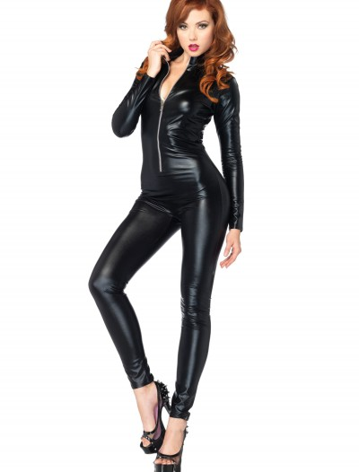 Sexy Black Zipper Catsuit buy now