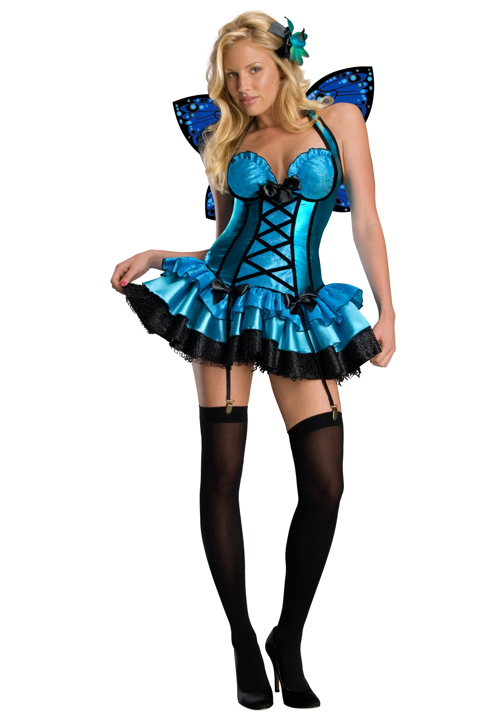 Sexy Blue Fairy Costume  sc 1 st  Halloween Costumes : cheap fairy costumes for adults  - Germanpascual.Com