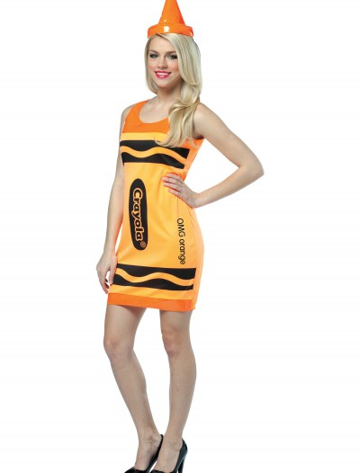 Sexy Neon Orange Crayon Dress buy now