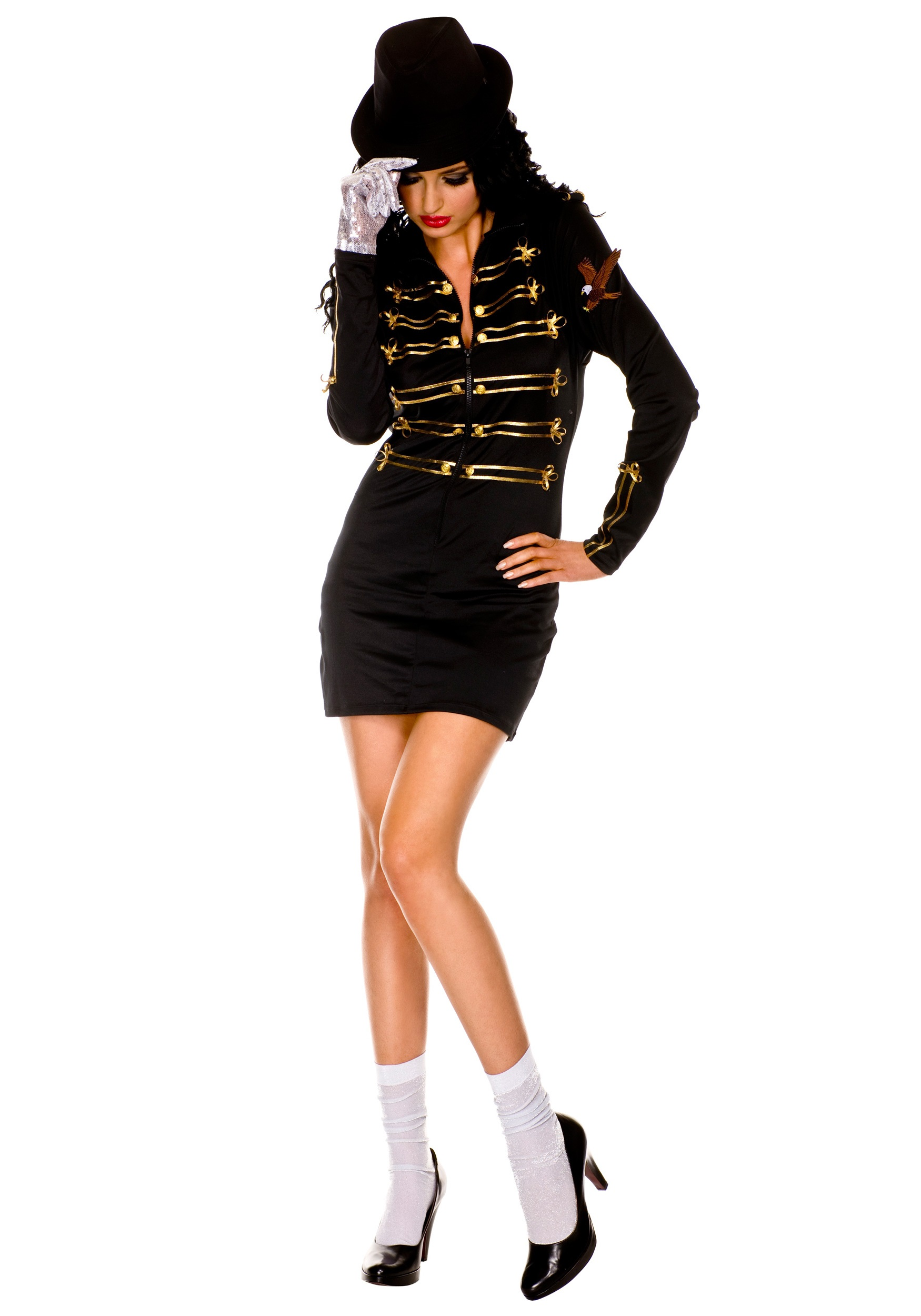 Sexy One Glove Pop Star Costume  sc 1 st  Halloween Costumes & Sexy One Glove Pop Star Costume - Halloween Costumes