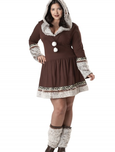 Sexy Plus Size Eskimo Kisses Costume buy now