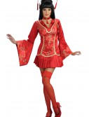 Sexy Red Ginger Geisha Costume buy now