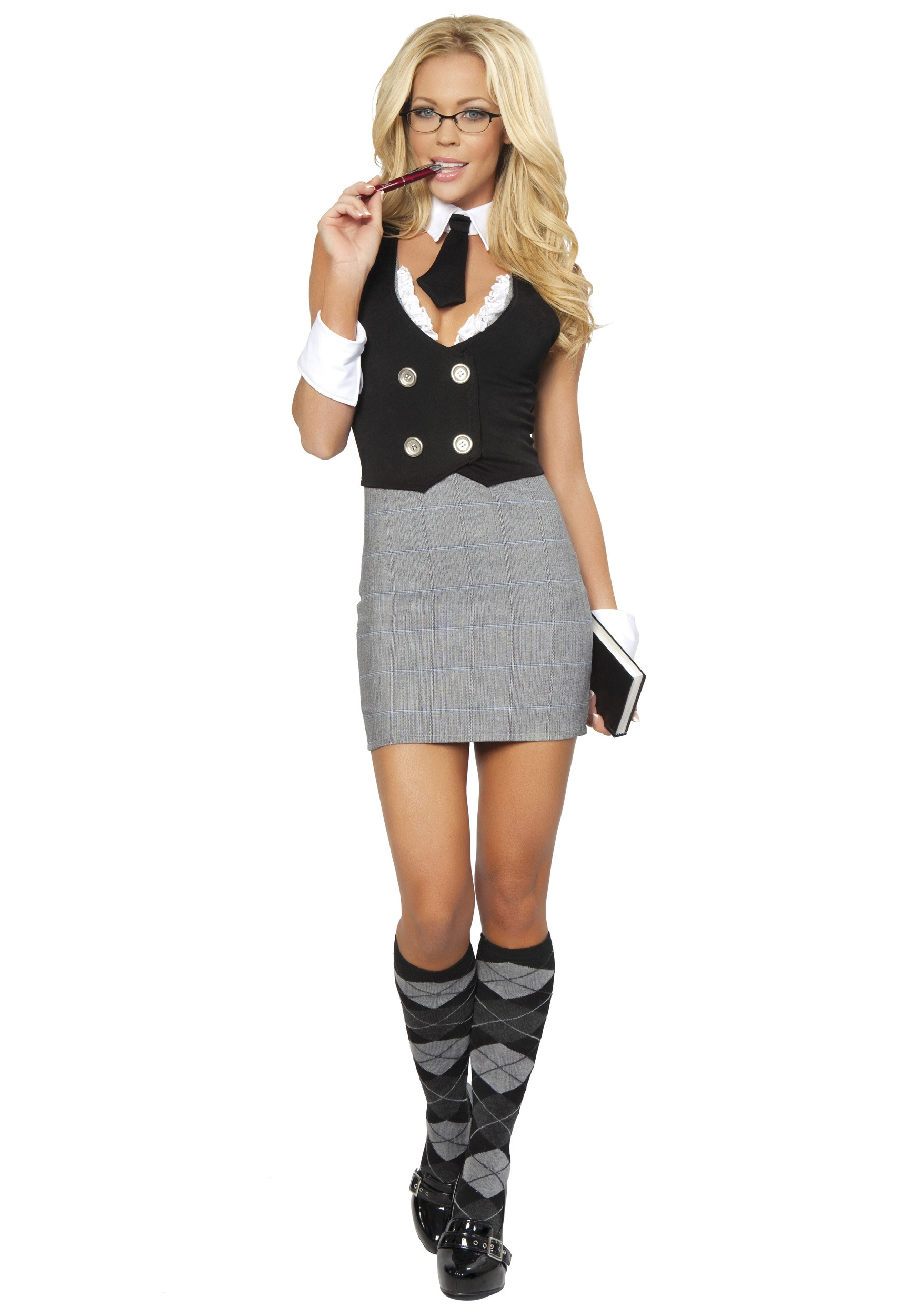 Old fashioned school teacher costume 62