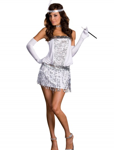 Sexy Silver Flapper Costume buy now