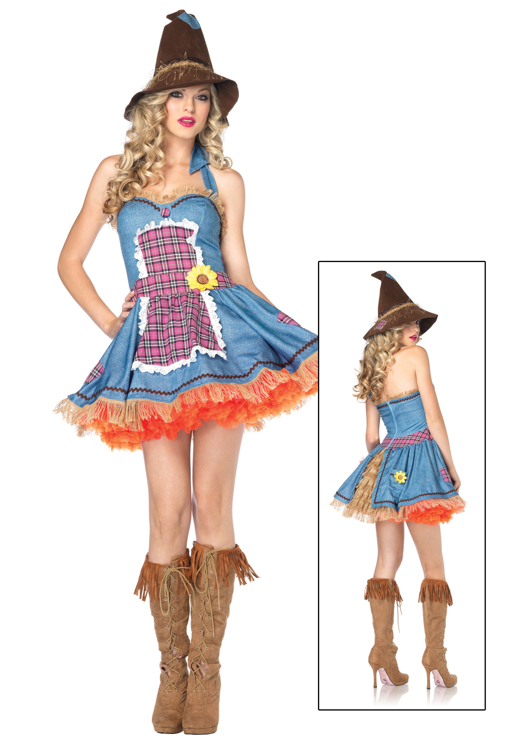 Sexy Sunflower Scarecrow Costume  sc 1 st  Halloween Costumes & Sexy Sunflower Scarecrow Costume - Halloween Costumes