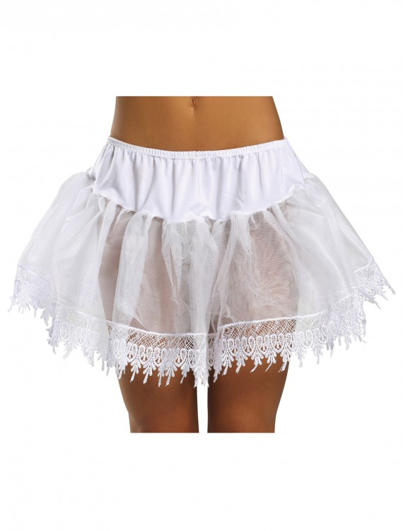 Sexy White Teardrop Petticoat Slip buy now