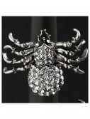 Silver and Crystal Spider Stretch Ring buy now