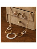 Silver and Gold Hoop Necklace buy now