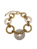 Silver and Gold Loop Bracelet buy now