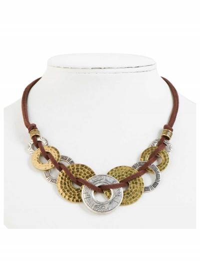 Silver and Gold Loop Necklace buy now