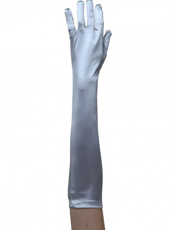 Silver Costume Gloves buy now