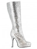 Silver Glitter Boots buy now
