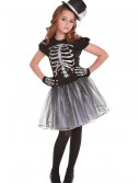 Girls Silver Skeleton Costume buy now