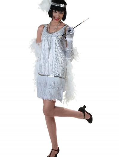Silver Plus Size Flapper Dress buy now