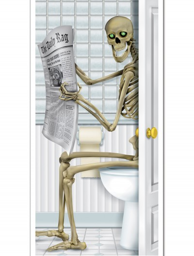Skeleton Restroom Door Cover buy now