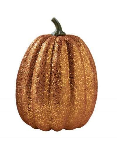 7.5'' Tall Orange Glitter Pumpkin buy now