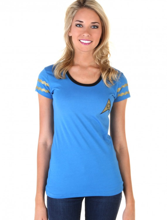 Star Trek Starfleet Blue Juniors Costume T-Shirt buy now
