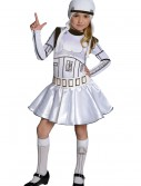 Storm Trooper Girls Dress Costume buy now