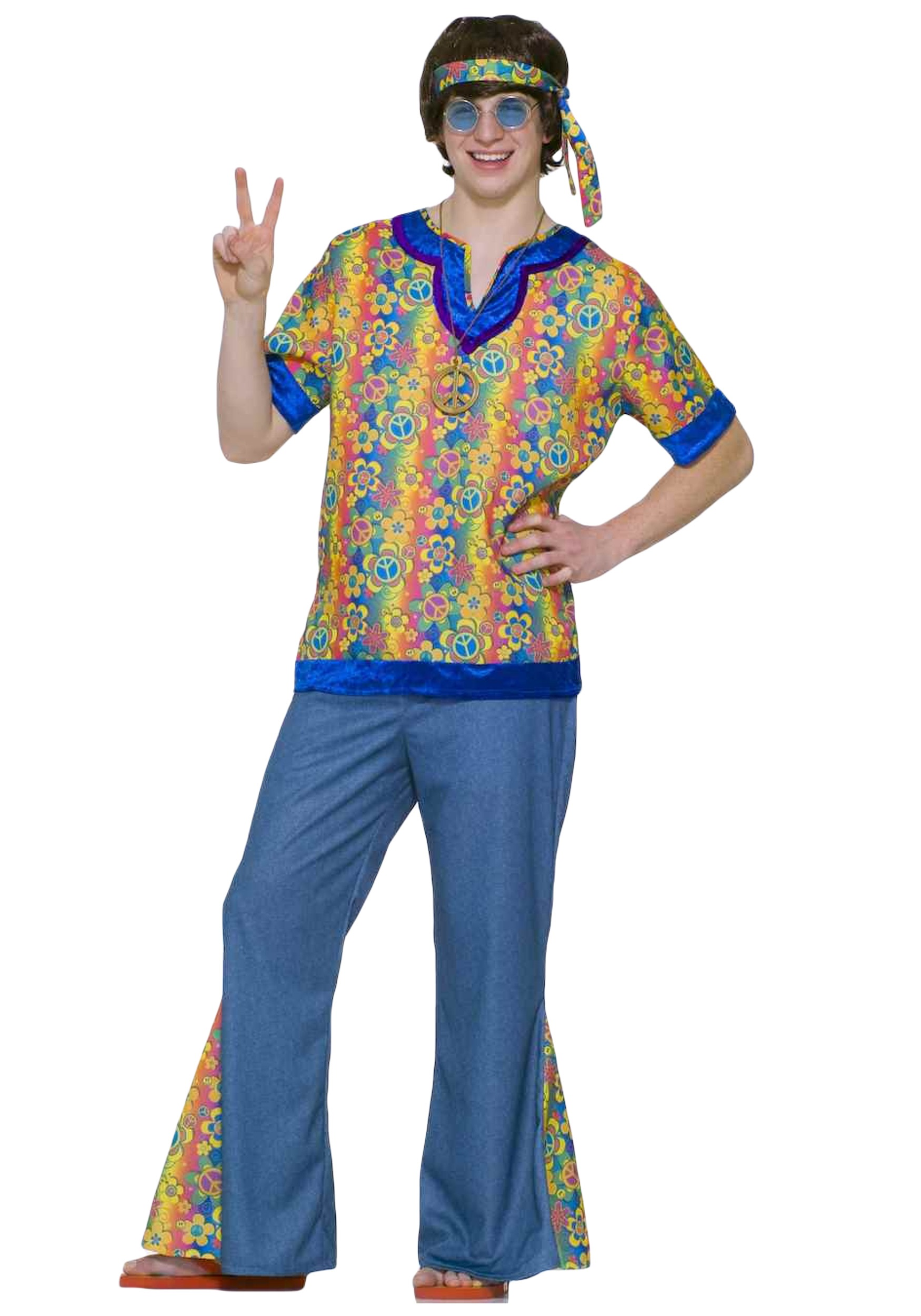 Teen 60s Hippie Costume  sc 1 st  Halloween Costumes & Teen 60s Hippie Costume - Halloween Costumes