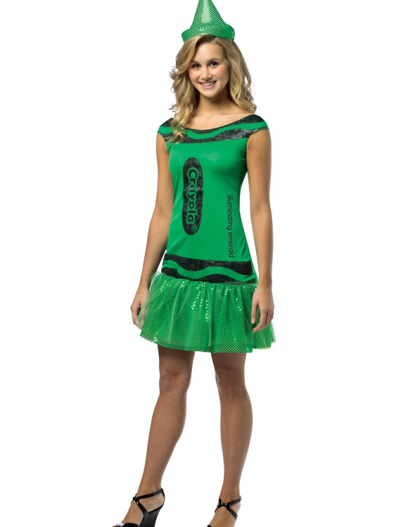 Teen Crayola Emerald Glitz Dress buy now