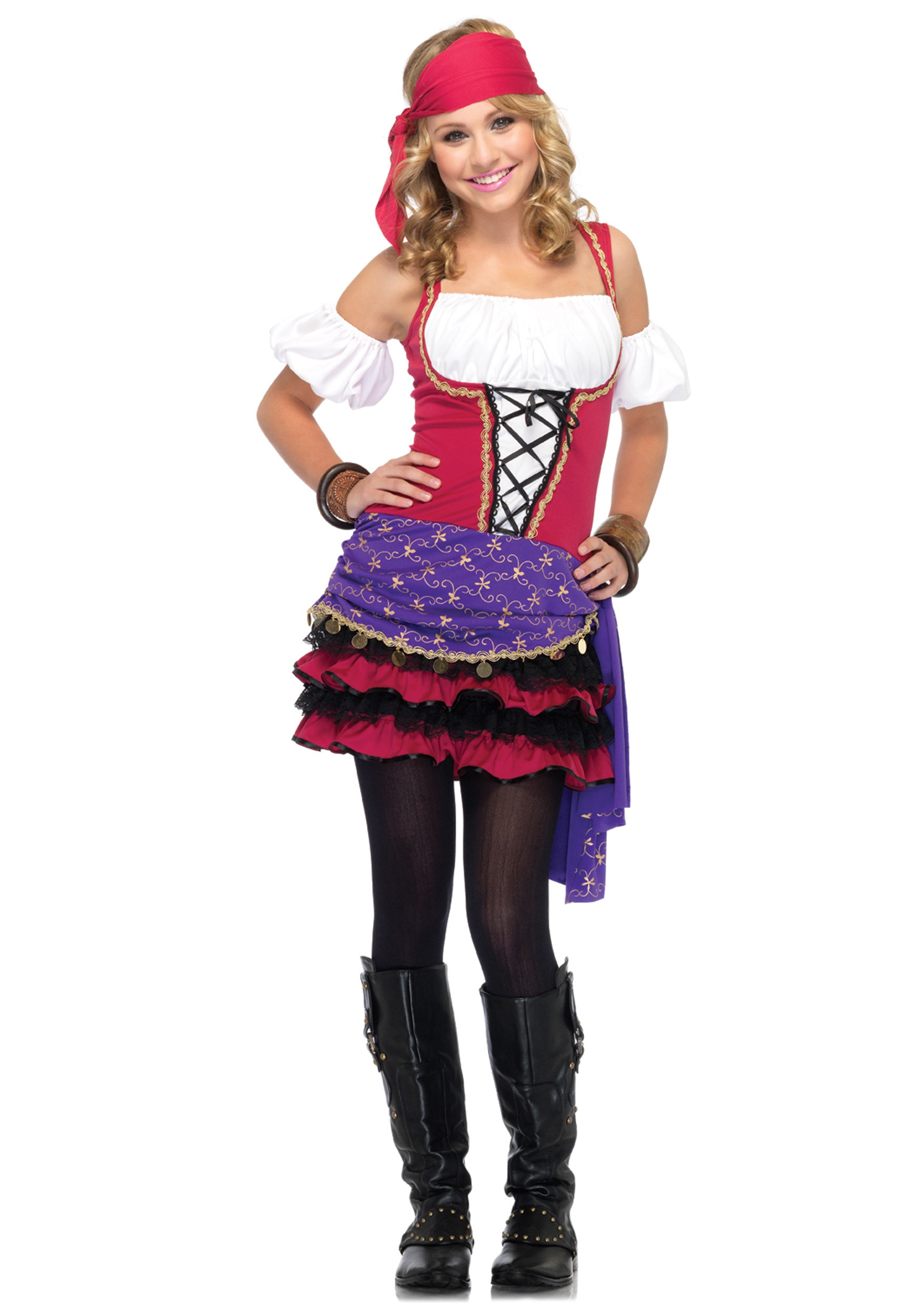 Teen Crystal Ball Gypsy Costume  sc 1 st  Halloween Costumes & Teen Crystal Ball Gypsy Costume - Halloween Costumes