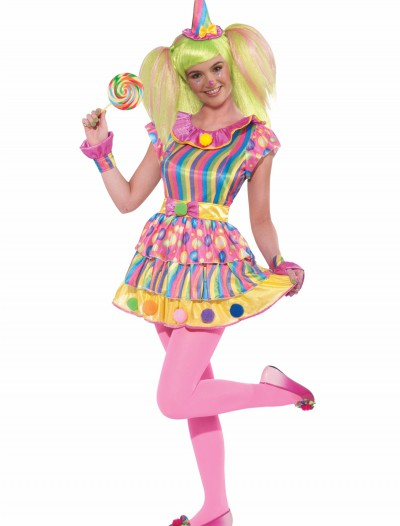 Teen Girls Polka Dot Clown Costume buy now