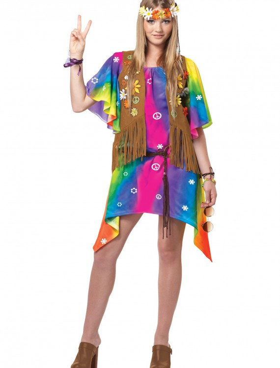 Teen Groovy Girl Hippie Costume buy now