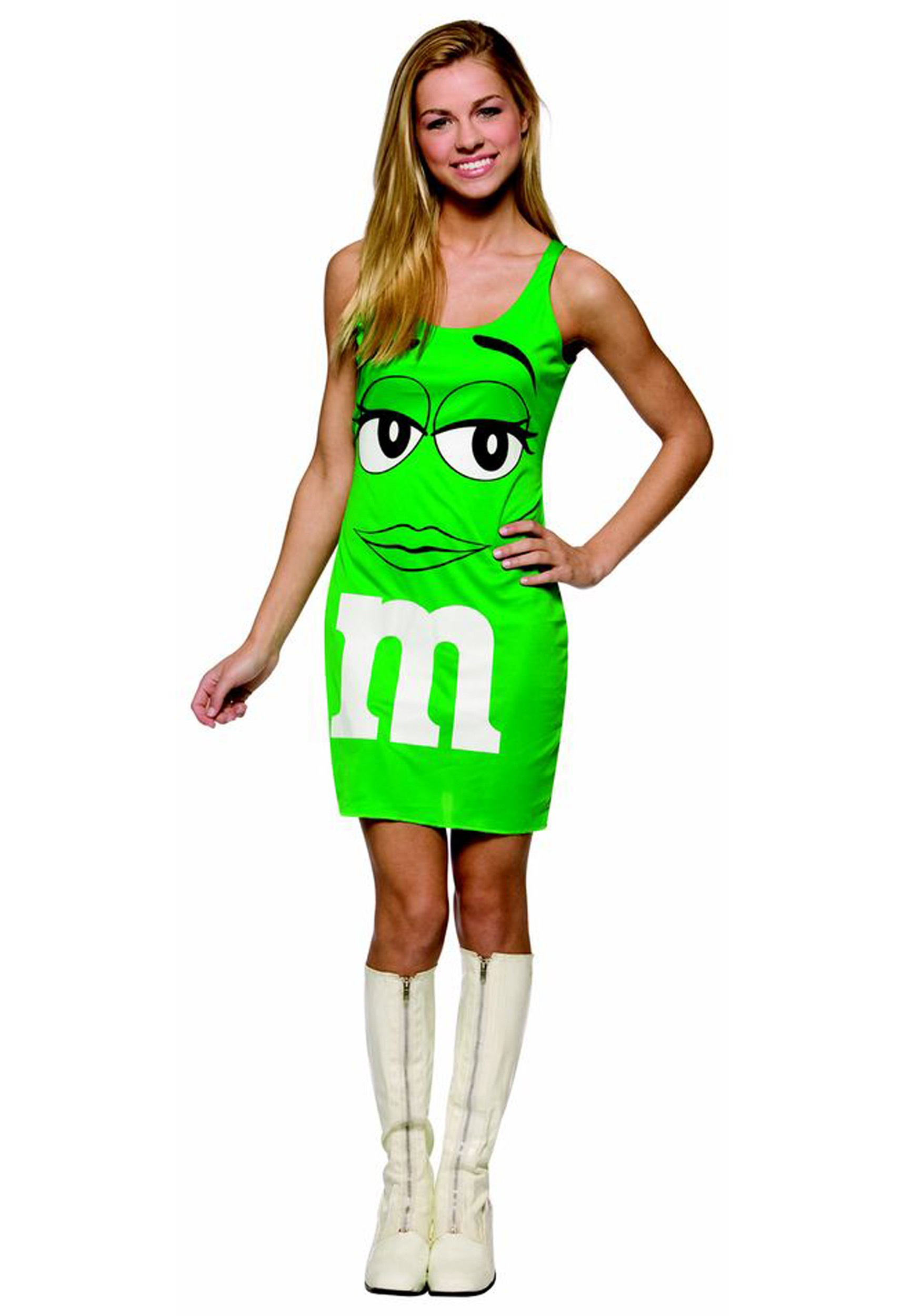 teen mm green tank dress