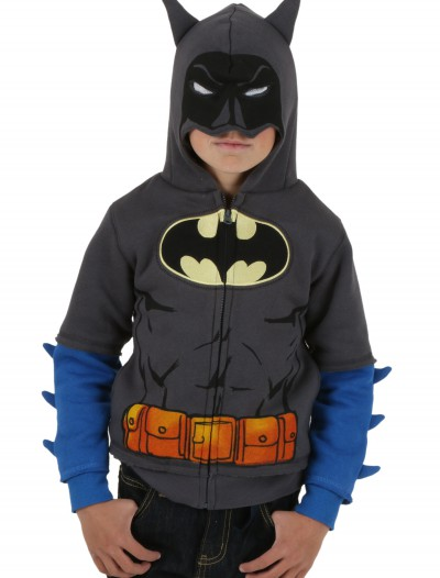 Toddler Grey Batman Costume Hoodie buy now
