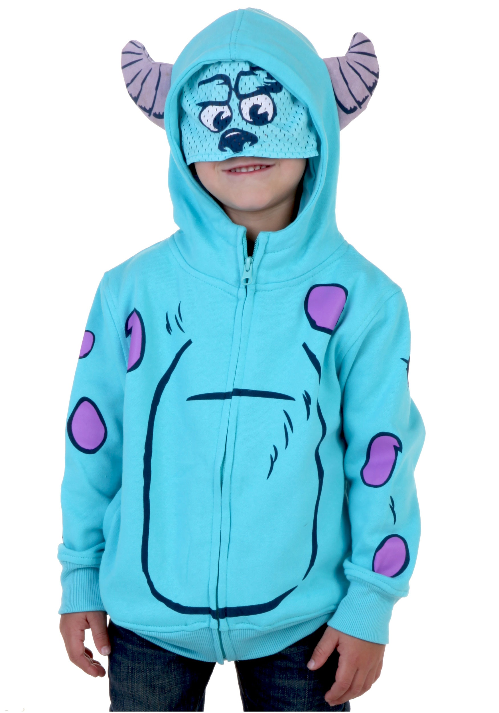 Toddler Monsters Sulley Costume Hooded Sweatshirt  sc 1 st  Halloween Costumes & Toddler Monsters Sulley Costume Hooded Sweatshirt - Halloween Costumes