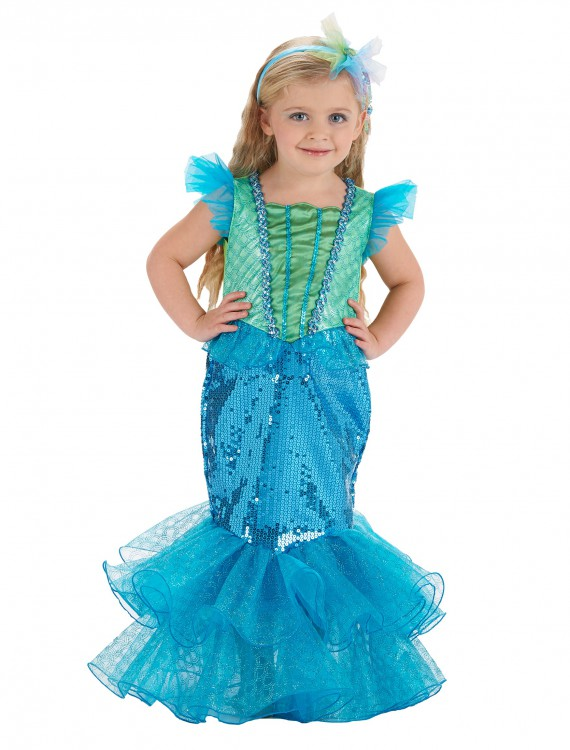 Turquoise/Lime Mermaid Costume buy now