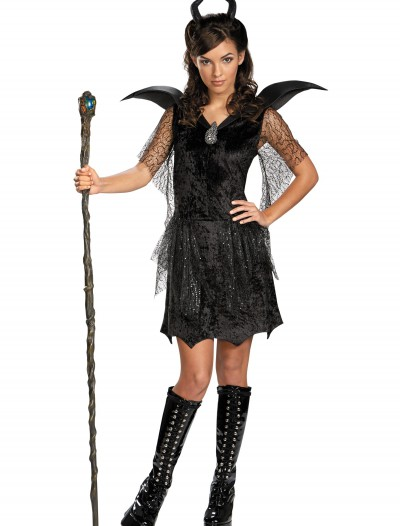 Tween Black Maleficent Gown Costume buy now
