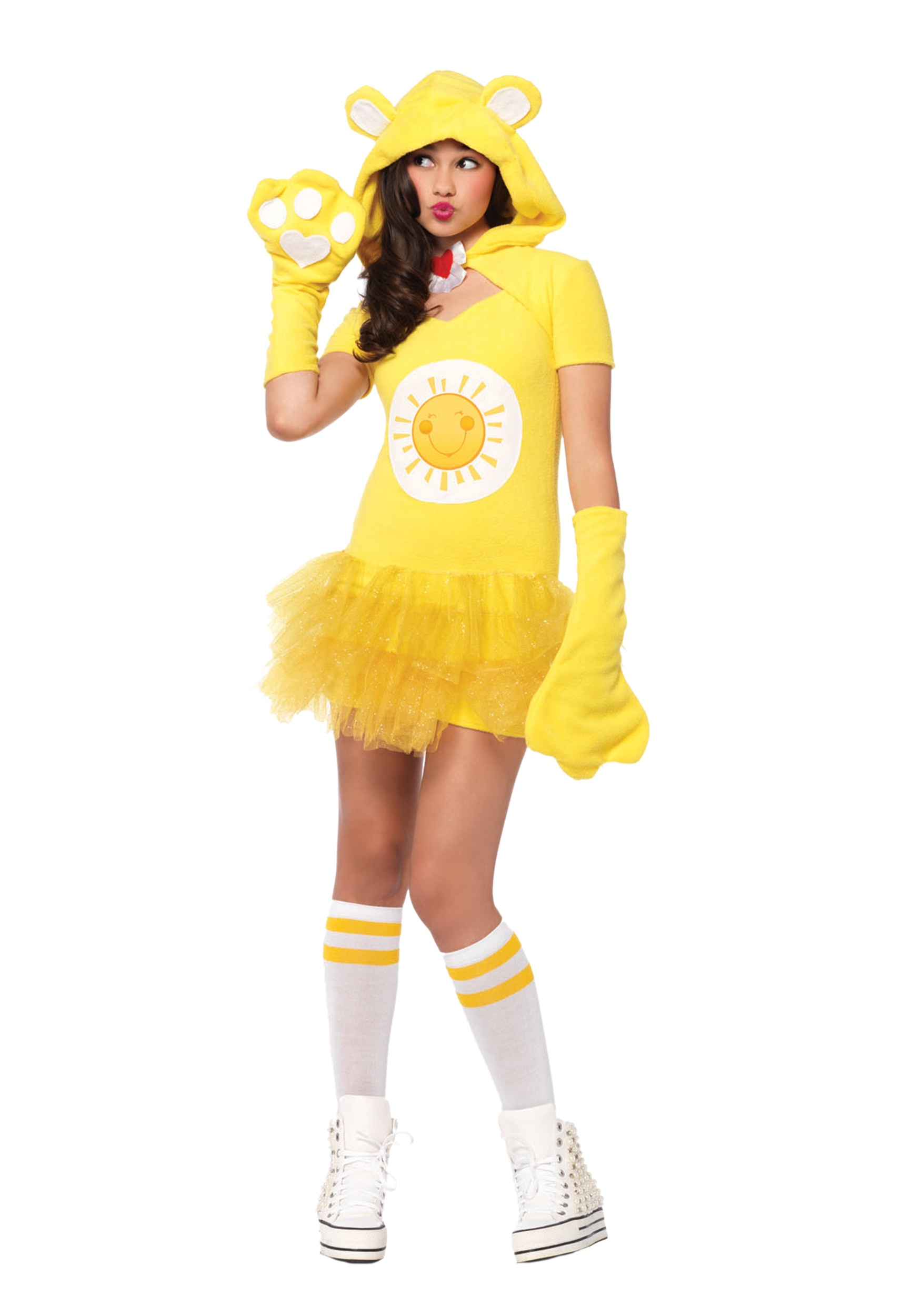 Tween Care Bears Funshine Bear Costume  sc 1 st  Halloween Costumes & Tween Care Bears Funshine Bear Costume - Halloween Costumes