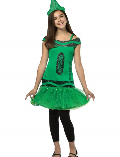 Tween Crayola Emerald Glitz Dress buy now