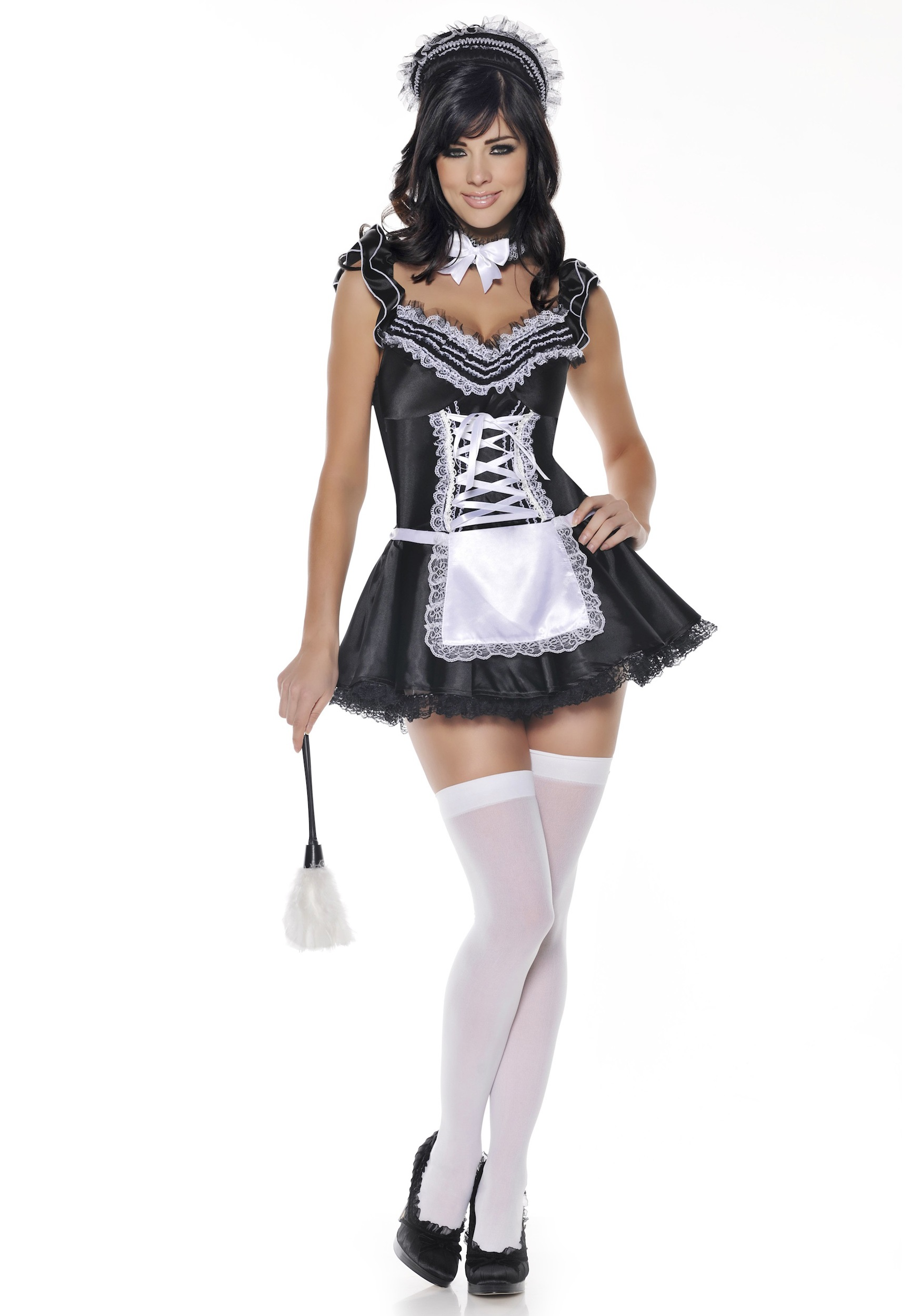 Upstairs French Maid Costume  sc 1 st  Halloween Costumes & Upstairs French Maid Costume - Halloween Costumes