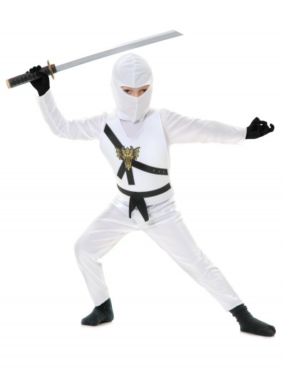 White Child Ninja Costume buy now