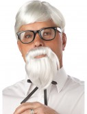 White Colonel Wig and Moustache buy now