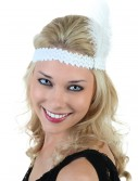 White Flapper Headband buy now