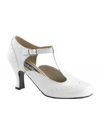 White Flapper Shoes buy now