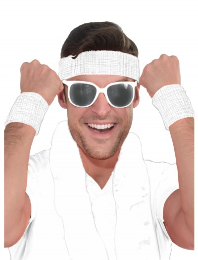 White Headband and Wristband Kit buy now