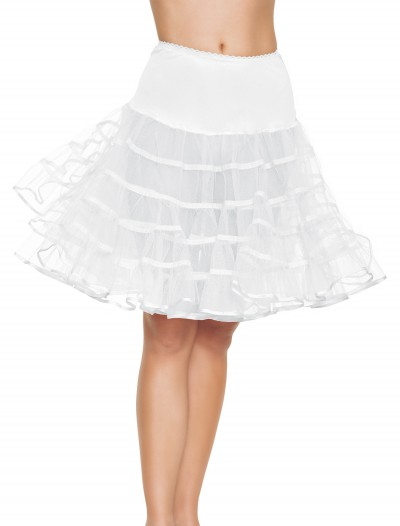 White Knee Length Petticoat buy now